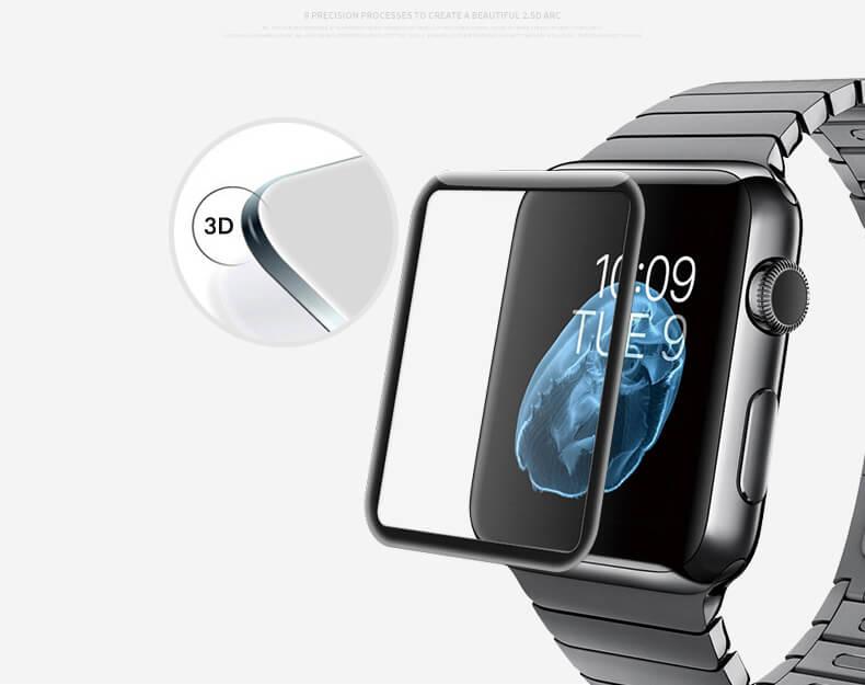 Защитный экран  для Apple Watch 38 мм Full screen (3D)
